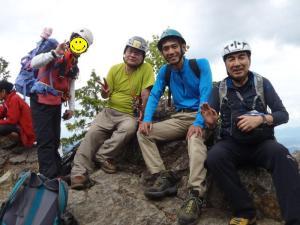 東岳での記念写真