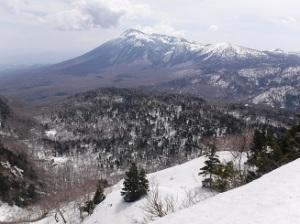 中倉山付近から見る岩手山