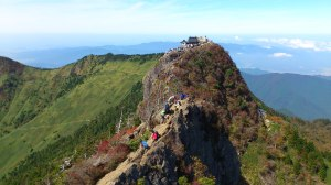 弥山側を見ています。